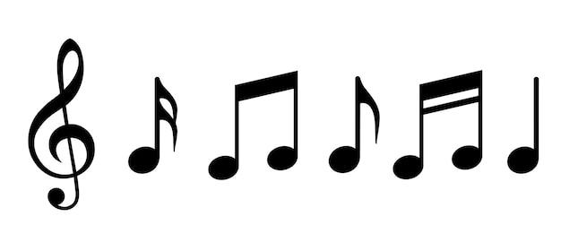 Ícone de notas musicais. ilustração vetorial
