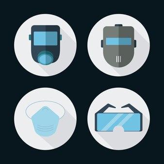 Ícone de óculos de máscara de gás