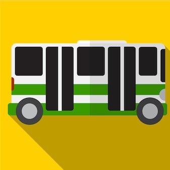 Ícone de ônibus plana ilustração isolado símbolo de sinal de vetor