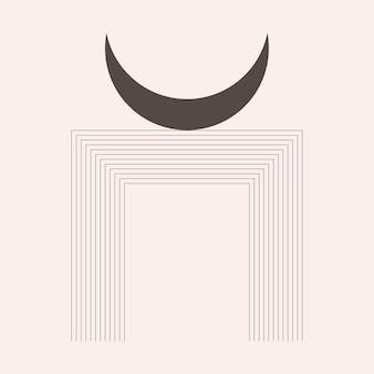 Ícone de padrão gráfico de lua de berçário de bebê boho t shirt minimalista projeto de elemento ptint.