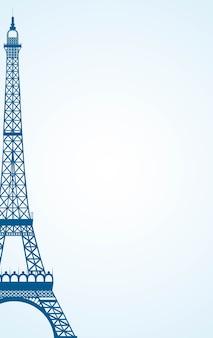 Ícone de paris sobre fundo branco, ilustração vetorial