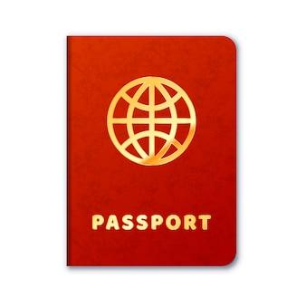 Ícone de passaporte estrangeiro realista