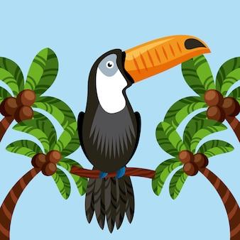 Ícone de pássaro tucano