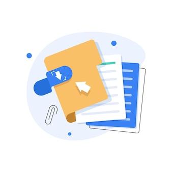 Ícone de pasta aberta pasta com documentosconceito de proteção de documentos