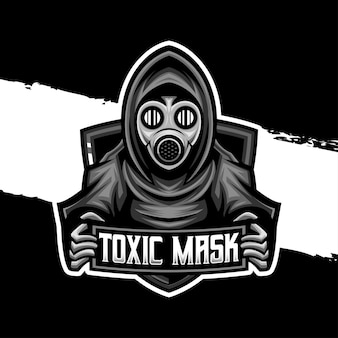 Ícone de personagem de máscara tóxica do logotipo esport