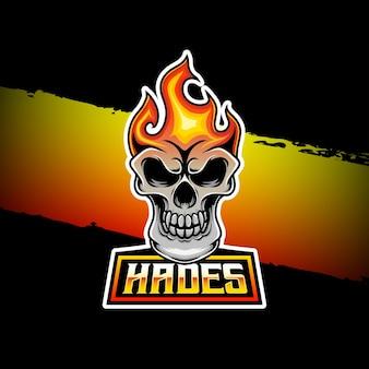 Ícone de personagem do logotipo esport hades