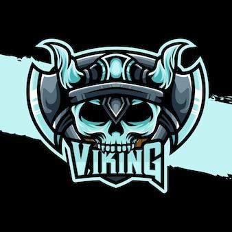 Ícone de personagem do logotipo esport viking
