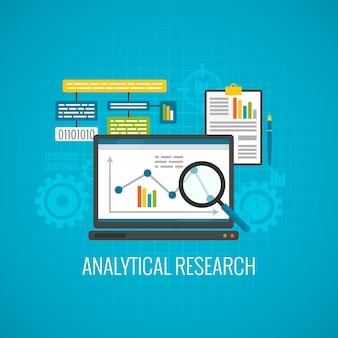 Ícone de pesquisa de dados e análise