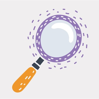 Ícone de pesquisa de doodle de lupa desenhada à mão