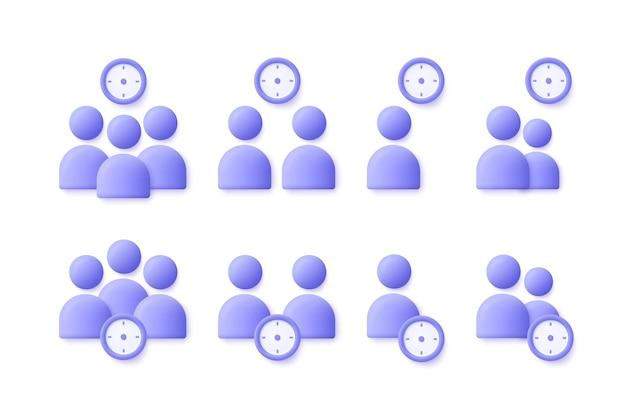 Ícone de pessoas de negócios do usuário de gerenciamento de tempo