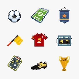 Ícone de pixel de futebol