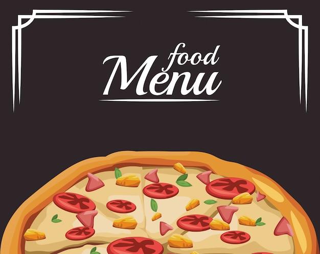 Ícone de pizza, menu de comida
