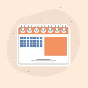 Ícone de planejamento de calendário