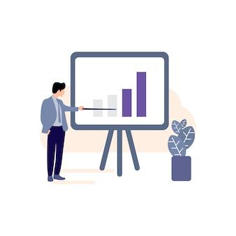Ícone de plano de negócios, crescimento de negócios, ícone de gráfico de progresso, ícone de sucesso, negócios bem sucedidos, homens de negócios