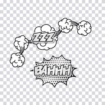 Ícone de quadrinhos desenhos animados pop art explossion