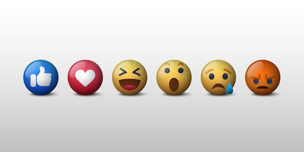 Ícone de reações da rede social emoji