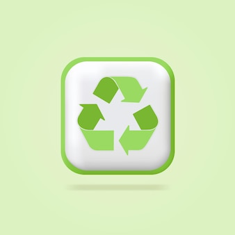Ícone de reciclagem ícone do meio ambiente etiquetas de folhas ecológicas ícone verde produto orgânico puro e fresco
