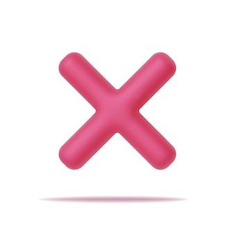 Ícone de rejeição 3d, sinal rejeitado. cruze o sinal para celular, web e aplicativos.