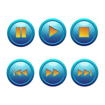 Ícone de reprodução de música do botão 3d