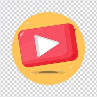 Ícone de reprodução de vídeo ou mídia em fundo em branco
