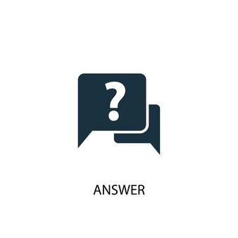 Ícone de resposta. ilustração de elemento simples. resposta conceito símbolo design. pode ser usado para web e celular.