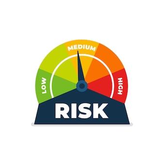 Ícone de risco no velocímetro
