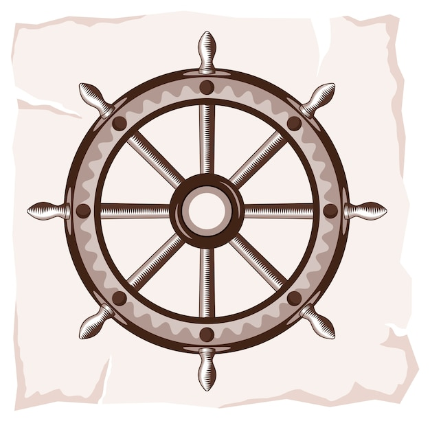 Ícone de roda velha do navio