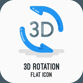 Ícone de rotação 3d