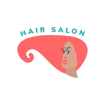 Ícone de salão de beleza e cabelo
