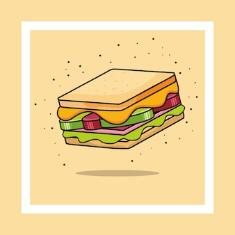 Ícone de sanduíche. ilustração de sanduíche.