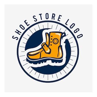 Ícone de sapato. marca do logotipo do calçado desportivo. símbolo de calçado. sinal de tênis de inicialização.