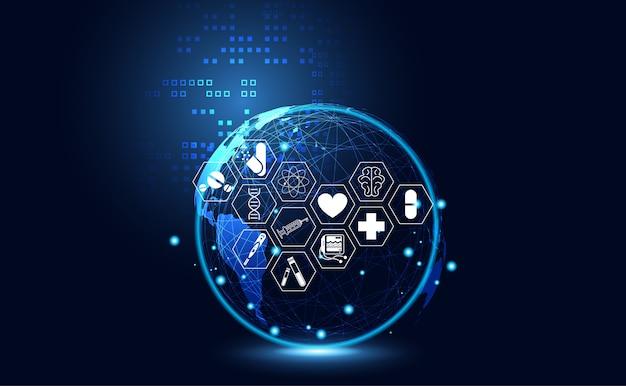 Ícone de saúde de ciência médica abstrata saúde