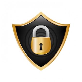 Ícone de segurança ou segurança