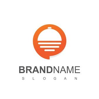 Ícone de serviço de comida de pedido de entrega de logotipo do food talk