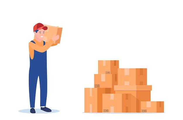 Ícone de serviço de entrega de personagem de correio.