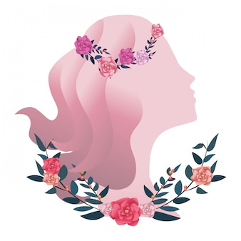 Ícone de silhueta feminina