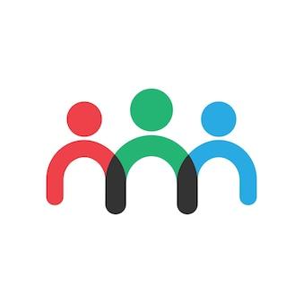 Ícone de símbolo do conceito de negócio de trabalho em equipe. ilustração vetorial eps 10