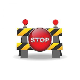 Ícone de sinal de barreira de estrada
