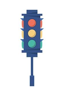 Ícone de sinal de luz de tráfego isolado