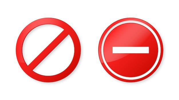 Ícone de sinal de parada de notificação ou símbolo de proibido no moderno