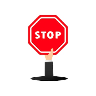 Ícone de sinal de parada de tráfego. controle de tráfego rodoviário. vetor em fundo branco isolado. eps 10.