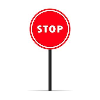 Ícone de sinal de parada de tráfego. sinal de aviso proibido. vetor em fundo branco isolado. eps 10.