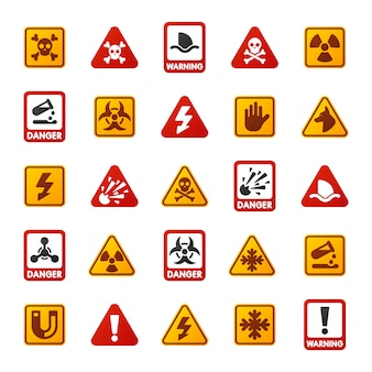Ícone de sinal de perigo