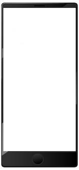 Ícone de smartphone em branco isolado no fundo branco