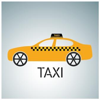 Ícone de táxi serviço de táxi taxi car fundo cinza e branco