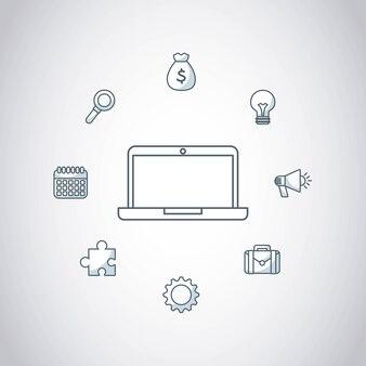 ícone de tecnologia de computador portátil