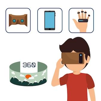 Ícone de tecnologia de realidade aumentada