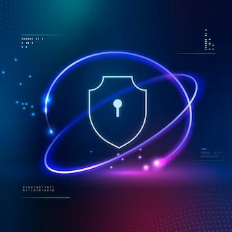 Ícone de tecnologia de segurança do computador