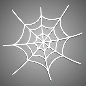 Ícone de teia de aranha branca com sombra