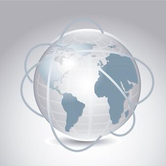 Ícone de terra sobre ilustração vetorial de fundo cinza